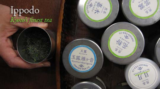 Just a small selection of fine green tea at Ippodo