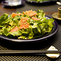 soba and asian greens salad hot smoked salmon soba hot smoked salmon ...