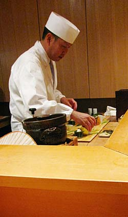 Above Chef Matayoshi Serves A Handlful Of Lucky Diners At His Serene Counter Style Two Michelin Starred Ryotei