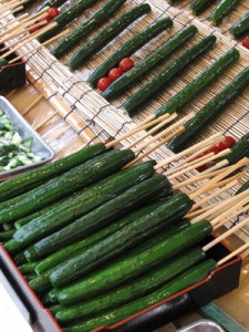 We've come to expect straight Japanese cucumbers as the norm